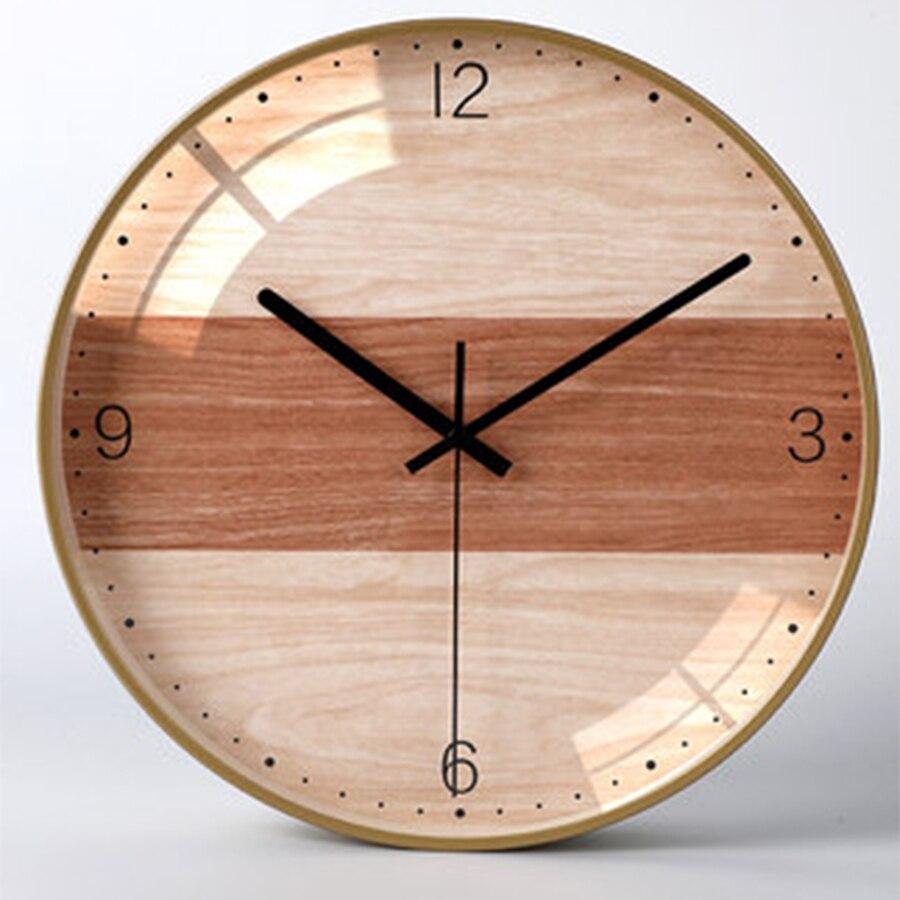 Simple numérique mur créatif Design moderne déco Nixie montre décoration muet maison décoration accessoires bois horloge mur W51005