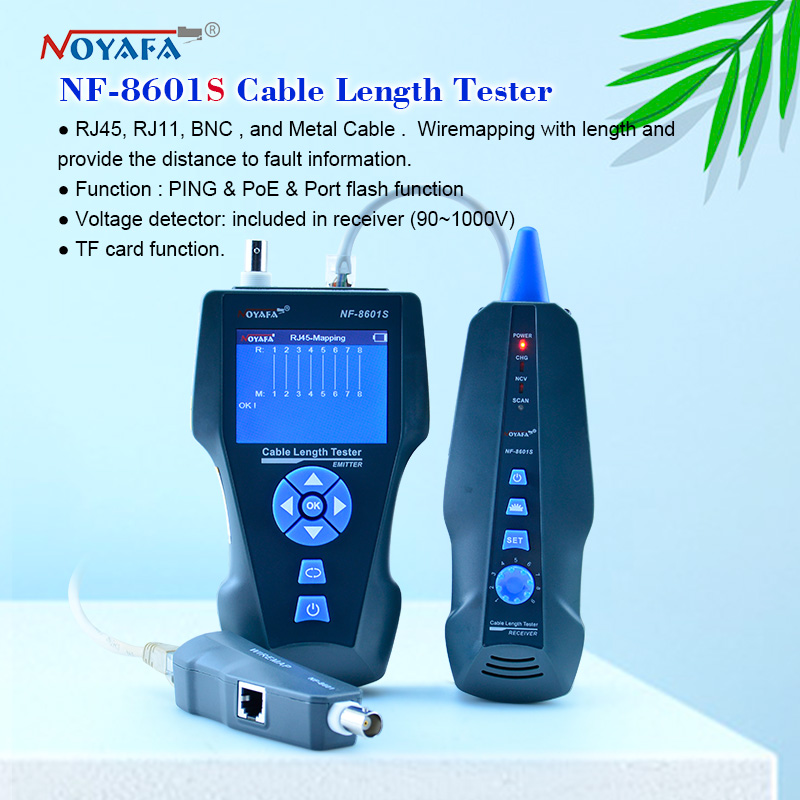 NOYAFA NF-8601S TDR Tester Network Cable Tester Tracker RJ45 RJ11 Lan Cable Length Telephone Tracker+POE+PING+Voltage Detector