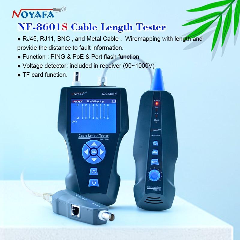 Тестер длины кабеля NF-8601S, кабельный тестер с функцией рефлектометра, тестер сетевого кабеля трекер RJ45 RJ11 lan, измерения длины телефонного про...