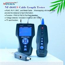 NOYAFA NF 8601S TDR Tester Tester kabli sieciowych RJ45 RJ11 przewód lan długość telefon Tracker + POE + PING + czujnik napięcia