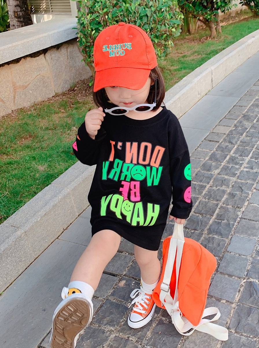 2020 Kids Clothes Girl Children Spring Autumn Long Sleeve Casual Print Cotton Dress 3