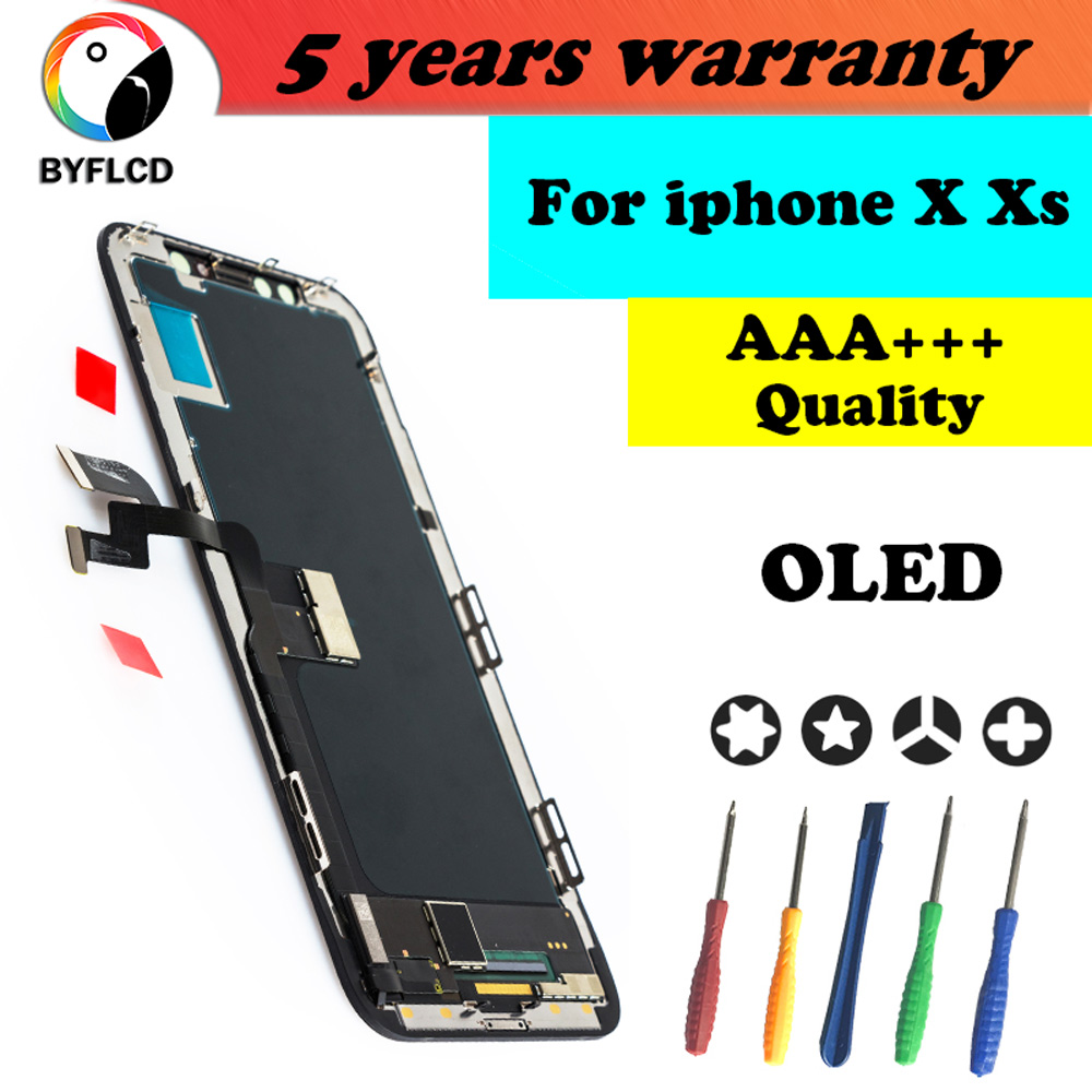 AAA+++ LCD For IPhone X Xs OLED With 3D Touch Digitizer Display For Iphone X Screen Digitizer Replacement Assembly No Dead Pixel