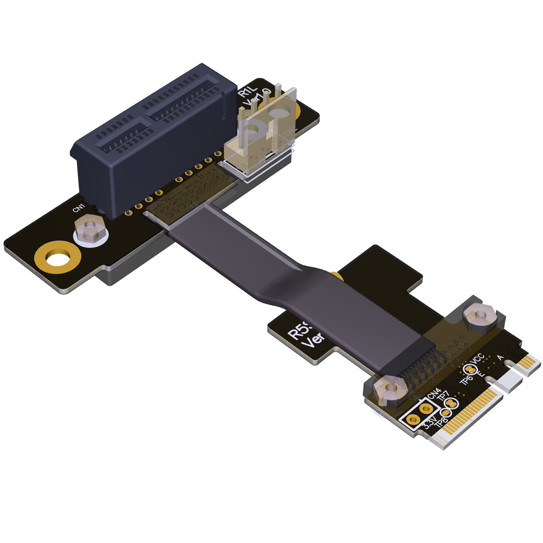 <font><b>M.2</b></font> WiFi A.E Key A+E To PCI-e 4x x4 Riser Extender Adapter Card Ribbon Gen3.0 Cable AE Key A E For <font><b>PCIE</b></font> 3.0 <font><b>x1</b></font> speed M2 Card image