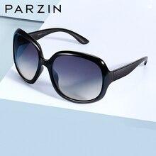 PARZIN spolaryzowane okulary przeciwsłoneczne damskie marka projekt moda duże oprawki Retro okulary damskie czarne UV400 Gafas De Sol Mujer