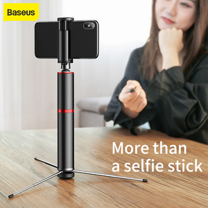 Image 1 - Baseus Wireless Bluetooth Selfie Stick Portable Handheld Phone Camera Tripod with Remote Control For iPhone for Samsung Using
