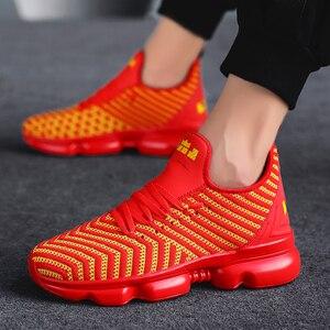 Image 4 - QGK 2019 جديد الرجال حذاء كاجوال وسادة هوائية أحذية رياضية الرجال شبكة ضوء تنفس الربيع في الهواء الطلق أحذية رياضية الصيف تشغيل رياضية