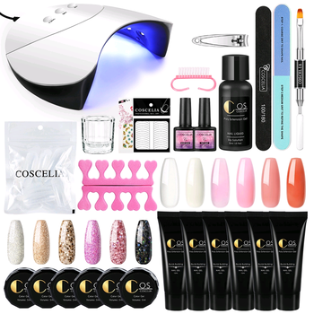 COSCELIA Poly Nail Gel Manicure Set Poly Extension Gel Nail Kit With Slip Solution Nail Art Decorations For Manicure Builder Gel 1