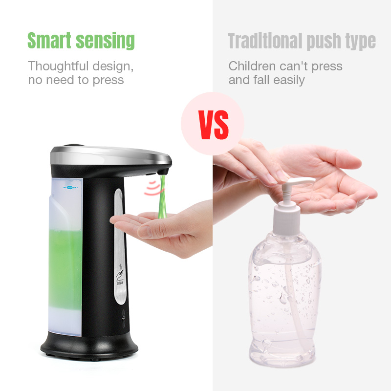 H87b7c3e528fe4ffdaa04200984c104098 Touchless Liquid Soap Dispenser Smart Sensor Hands-Free Automatic Soap Dispenser Pump For Bathroom Kitchen 400ML