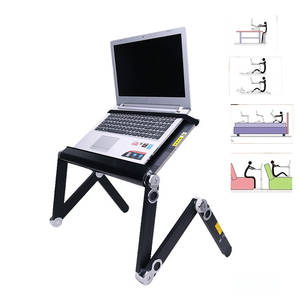 Stand-Tray Desk-Table Notebook Laptop Folding YUNAI with Cooling-Fan for Bed Sofa 360-Degree