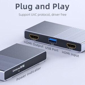 Image 3 - Unnlink USB3.0 لعبة UVC بطاقة التقاط الصوت والفيديو التقاط الفيديو 1080 @ 60Hz سجل البث المباشر للكاميرا كاميرا ويب PC PS3 PS4 TV xbox التبديل