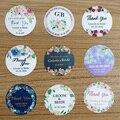 96 шт., 3 см/1,2 дюйма, круглые свадебные наклейки с логотипом на заказ, водонепроницаемые, персонализированные, вечерние, подарочные коробки дл...