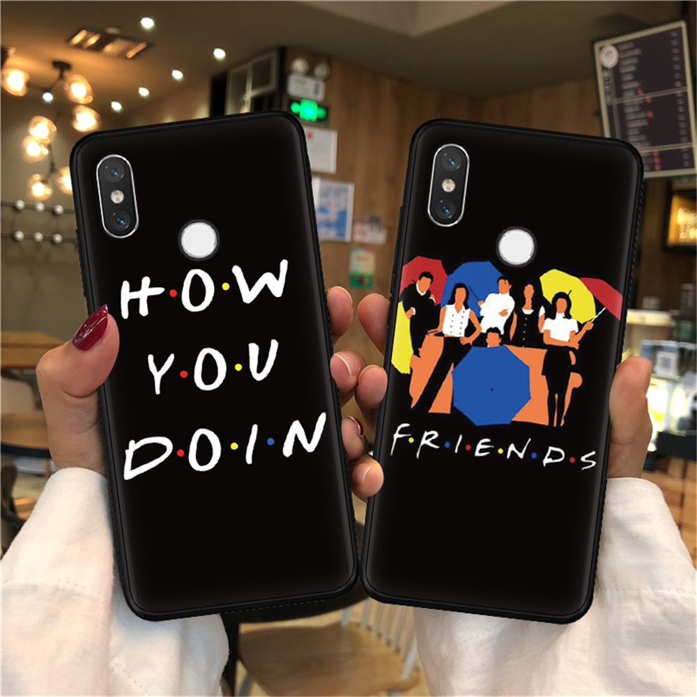 Central Perk Coffee friends tv show how you doin Black silicone Phone Case For Xiaomi Mi 9 SE 9T Pro 8 Lite A1 5X A2 6X F1 Cover