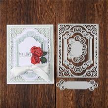 Eastshape Lace Frame Cutting Dies Metal Scrapbooking Album Card Making Embossing Stencil Diecuts Decoration