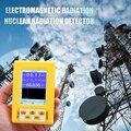 BR-9C 2-Em-1 Handheld Portátil Display Digital Radiação Eletromagnética Detector de Radiação Nuclear Geiger Contador Full-Função