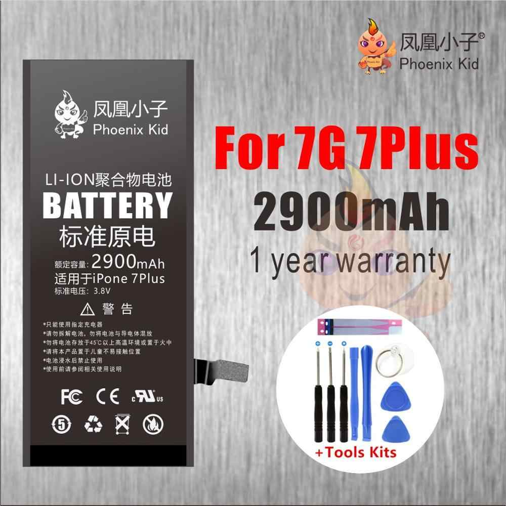 Phoenix Kid Original 7 For iphone 7G 7P Plus 7PLUS Battery Replacement Phone bateria Real High Capacity Free Repair Kit battery