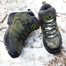 Marka mężczyźni buty zimowe śnieg ciepłe Super mężczyźni wysokiej jakości wodoodporna Skórzane trampki na świeżym powietrzu mężczyzna buty trekingowe buty robocze 36 47