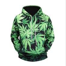 UNEY Hoodies for Men Leaf Hoodies Green Long sleeve Casual Top Crew neck Sweatshirt Hooded Sweatshirt crew neck bare father christmas print sweatshirt
