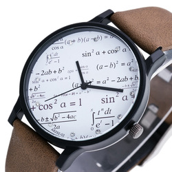 Nova matemática relógio masculino geometria elementos estudante relógio tendências casais relógios moda personalidade design casais relógios