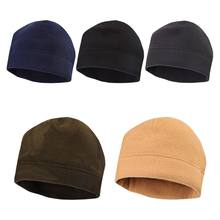 Unisex Winter Warm Buiten Wandelen Caps Thicken Faux Fleece Cap Effen Kleur Stretchy Militaire Tactische Skull Beanie Hat(China)