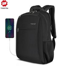 Tigernu mochila impermeable para ordenador portátil de 2020 pulgadas para hombre, morral impermeable con puerto de carga USB de 4.0A, informal, a la moda, 15,6