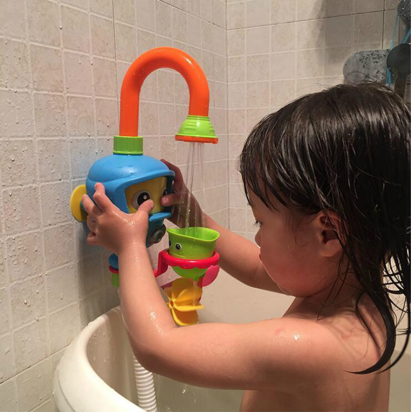 Baby Bath Toys Bathtub Accessories Waterwheel Shower Spray Water Play Game For Bath Bathroom Diver Babies Toy Kids Beach Toys