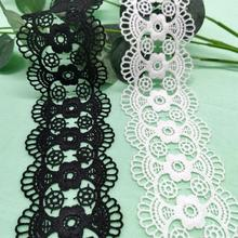 Lace 6CM water soluble lace milk silk embroidery accessories curtain home textile lace milk silk water soluble embroidery lace computer embroidery unilateral wave lace barcode clothing accessories