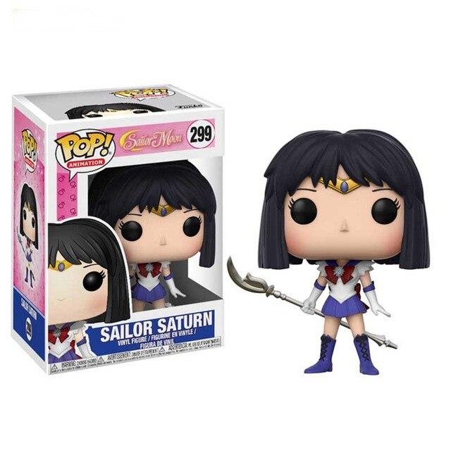 FUNKO POP SAILOR MOON 89# Chibiusa 295# Meiou Setsuna 296# Tenoh Haruka 297# Kaiou Michiru 298# Action Figure Toys for Kids Gift 6