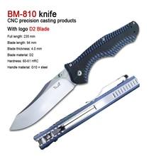 Bm810 folding knife D2 blade G10 handle high hardness sharp military