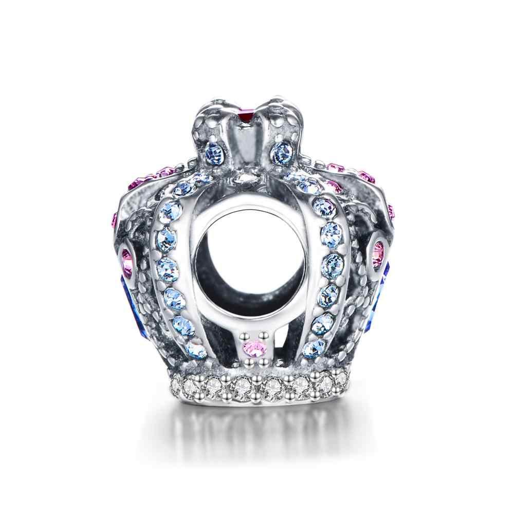 2 шт./лот Корона Бусины Шарм подходит змея цепи браслеты завод GW модные ювелирные изделия