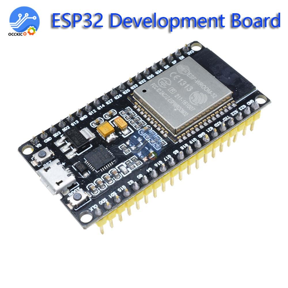 Esp32 ESP-32 placa de desenvolvimento sem fio wifi bluetooth duplo núcleo cp2104 filtros módulo gerenciamento energia 2.4ghz iot casa inteligente