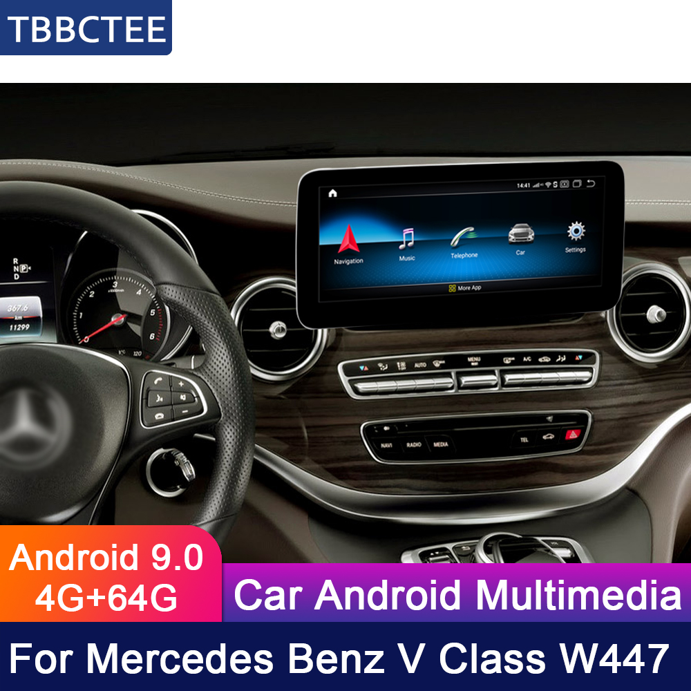 Android For Mercedes Benz MB V Class W447 2014 2015 2016 2017 2018 2019 NTG Car Multimedia player GPS Navi Navigation