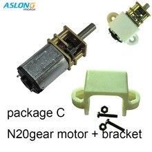 цена на 6V N20 geared Motor DC  Electric  Motor with bracket  n20 dc gear box motor  39-1300rpm N20 dc motor gear box N20  bracket