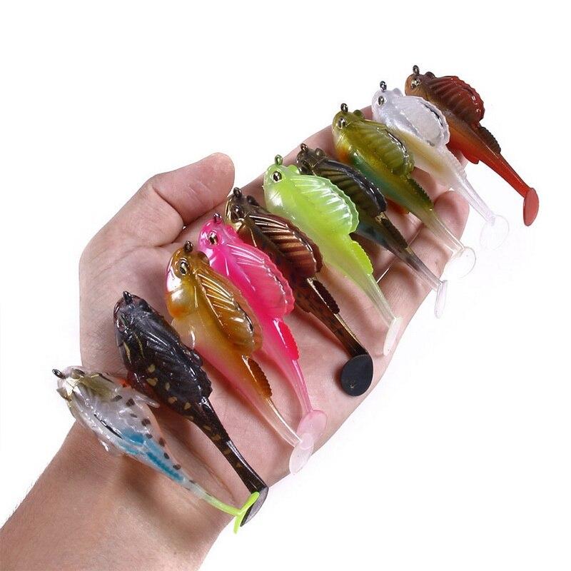 Фсти приманки для рыбалки, мягкие, свинцовая блесна темно Пижама Мягкая приманка рыбалка на щуку бас приманки Шад для Рыбная ловля окуня на ...