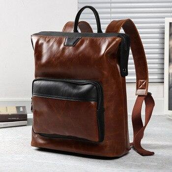 New Korean Backpack Academic Style Retro Postman Pack - discount item  20% OFF Backpacks