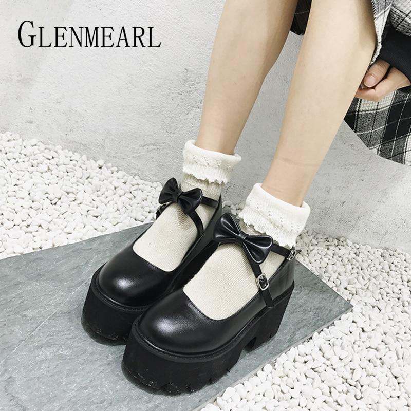Platform Shoes Bow knot Lolita