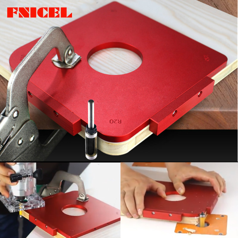 Round Corner Jig Template Panel Radius Quick-Jig Router Bit With Bearing Use With Engraving Machine Trimming Machine R5/10/20/30