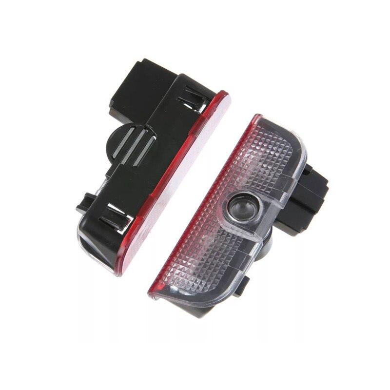 2 шт. светодиодный двери автомобиля логотип Добро пожаловать лазерный проектор Ghost Shadow Предупреждение светильник для Skoda Superb 2009 2010 2011 2015 Добр...