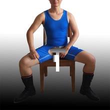 Wurst Мужской Цельный открытый промежность открытая кнопка на заказ гей борцовка фуфайка Сексуальная Тяжелая Атлетика Спортивный костюм