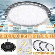 Ultraslim-Lámpara LED de campana montaje alto UFO 200/300/500W, impermeable, IP65, iluminación Industrial comercial, almacén, campana montaje alto