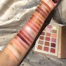 36 Piece/Lot Beauty Glazed 18 Color Glitter Matte Eyeshadow Palette Makeup Glitter Pigment Smoky Eyeshadow Palette Waterproof