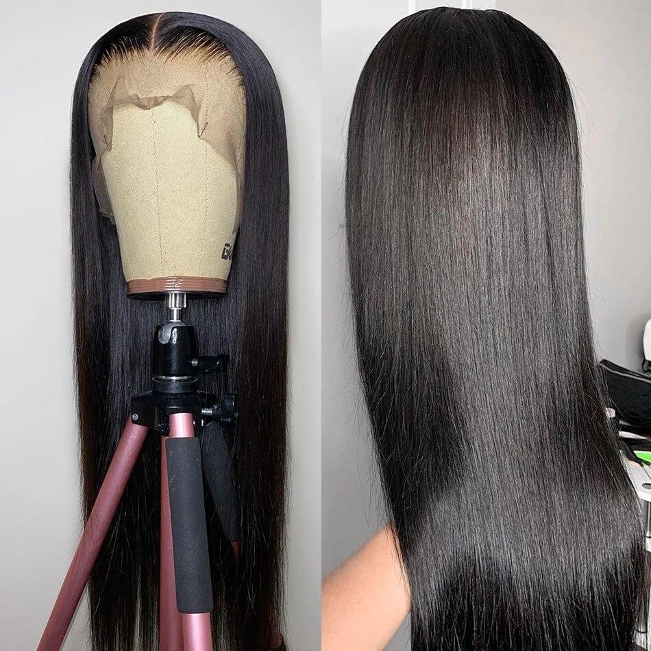 reta rendas frontal perucas preto mulher completa