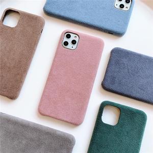 Однотонная однотонная Роскошная плюшевая ткань мягкий Хрустальный бархатный чехол для телефона для iPhone 8 7 Plus 10 X XR XS 11 Pro Max задняя крышка