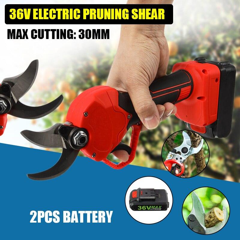 36V Elektrische Garten Pruner Werkzeug Cordless Elektrische Wiederaufladbare Lithium-Gartenschere Zweig Cutter Pfropfen Werkzeug Garten Scissor