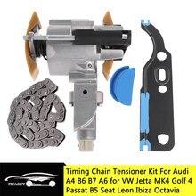 Tendeur de chaîne de distribution d'arbre à cames, pour VW Jetta Golf MK4 Passat B5 Bora, Audi A4 A6, Seat Leon Ibiza Octavia 1.8T