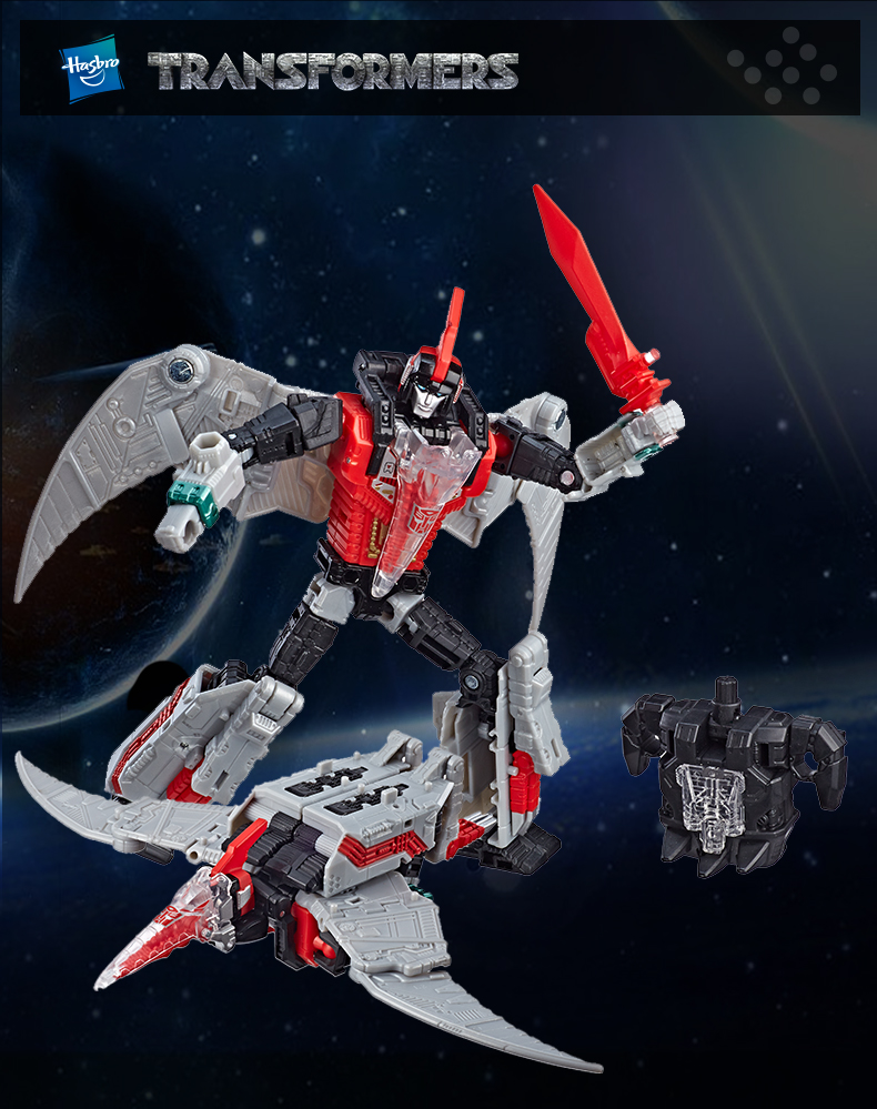 Transformers Power of the Primes Swoop G1 Red Redeco Action Figure