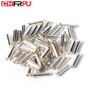 100PCS 0.5mm2-16mm2 22-10 AWG Non-Insulated Wire Connector Ferrules Electrical Cable Terminal Copper Bare Tinned Crimp Terminal