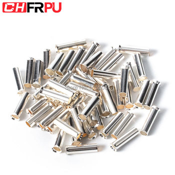100PCS 0.5mm2-16mm2 22-10 AWG Non-Insulated Wire Connector Ferrules Electrical Cable Terminal Copper Bare Tinned Crimp Terminal 50pcs crimping type non insulated pipe bare terminal connector for 18awg wire page 3