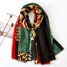 2019 Design Leopard Print women scarf fashion pashmina for lady cotton scarves shawls and wraps neck head chiffon hijabs bandana