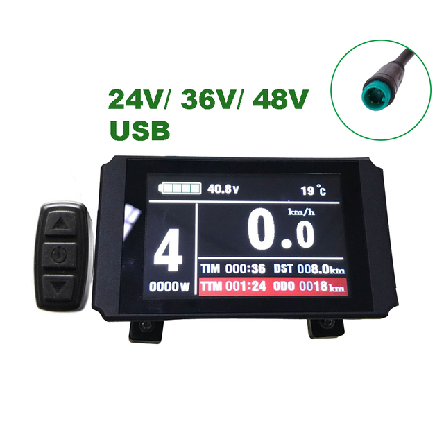 Details about  /Regenerative braking KT LCD3 display electric bike kit 1000W and Samsung battery