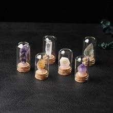 1PC naturalne szkło kryształowe butelka życzeń kamień leczniczy magiczna różdżka szczęście wiadomość butelka Home Decor prezent urodzinowy
